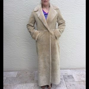 EUC Express Suede Leather Long Coat